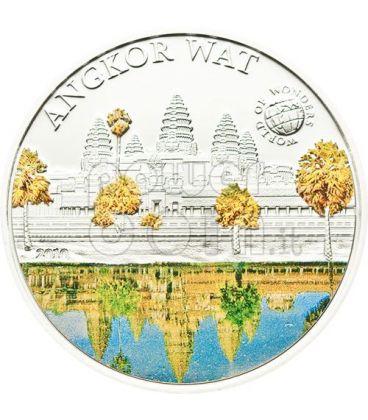 TEMPIO ANGKOR WAT World Of Wonders Moneta Argento 5$ Palau 2010