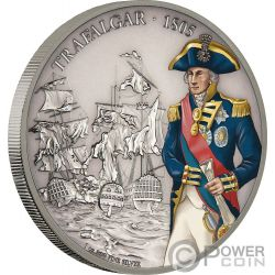 BATTLE OF TRAFALGAR Battles That Changed History 1 Oz Silver Coin 2$ Niue 2017