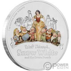 SNOW WHITE AND THE SEVEN DWARFS 70th Anniversary 1 Oz Silver Coin 2$ Niue 2017