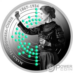 BIRTH OF MARIE SKLODOWSKA CURIE 150th Anniversary Silver Coin 500 Francs Cameroon 2017