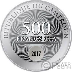 BIRTH OF MARIE SKLODOWSKA CURIE 150 Anniversario Moneta Argento 500 Franchi Cameroon 2017