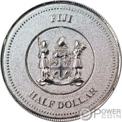 CAPTAIN AMERICA Marvel Light Ups Moneda Chapado Plata 50 Centavos Fiji 2017