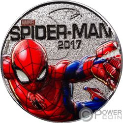 SPIDER MAN Marvel Light Ups Silver Plated Coin 50 Cents Fiji 2017