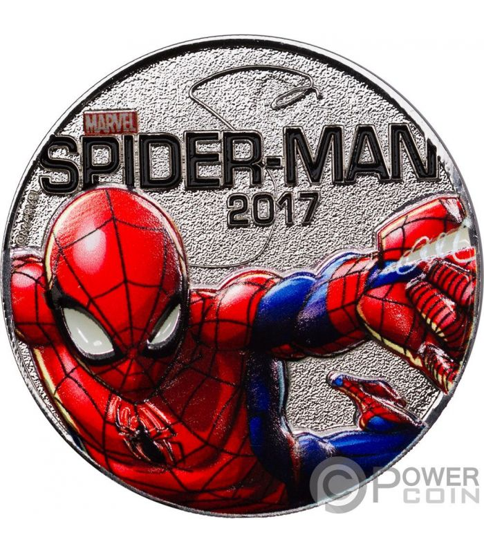 Spider Man Marvel Light Ups Silver Plated Coin 50 Cents