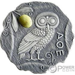 OWL OF ATHENA Civetta Diaspro Moneta Argento 500 Franchi Cameroon 2017