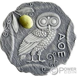 OWL OF ATHENA Jasper Silver Coin 500 Francs Cameroon 2017