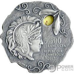 OWL OF ATHENA Mochuelo Jaspe Moneda Plata 500 Francos Cameroon 2017