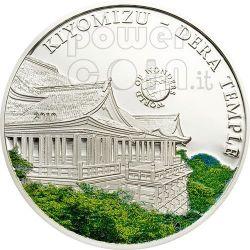 KIYOMIZU TEMPLE World Of Wonders Silver Coin 5$ Palau 2010