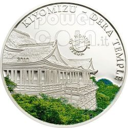 TEMPIO KIYOMIZU World Of Wonders Moneta Argento 5$ Palau 2010
