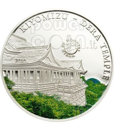 TEMPIO KIYOMIZU World Of Wonders Moneta Argento 5$ Palau 2010