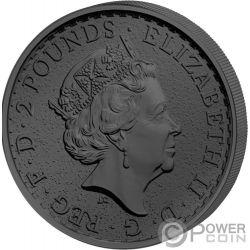 YEAR OF THE ROOSTER Golden Enigma 1 Oz Серебро Монета 2£ Великобритания 2017