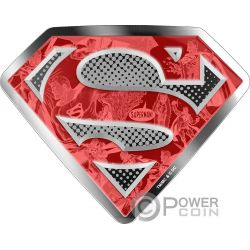 SUPERMANS SHIELD DC Comics Originals 10 Oz Silver Coin 100$ Canada 2017