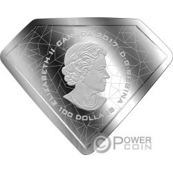 SUPERMANS SHIELD Escudo DC Comics Originals 10 Oz Moneda Plata 100$ Canada 2017
