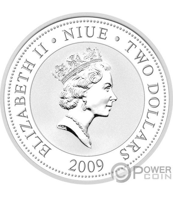 BLACK SWANS Love Is Precious Plata 1 Oz Proof Moneda 2$ Niue 2009