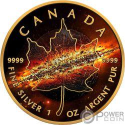 APOCALYPSE II Apocalisse Foglia Acero Maple Leaf 1 Oz Moneta Argento 5$ Canada 2017