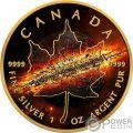 APOCALYPSE II Apocalipsis Hoja Arce Maple Leaf 1 Oz Moneda Plata 5$ Canada 2017
