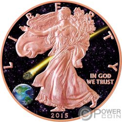 ADMIRE Liberta Walking Liberty Atlas of Meteorites 1 Oz Moneta Argento 1$ USA 2015