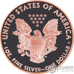 ADMIRE Walking Liberty Atlas of Meteorites 1 Oz Silver Coin 1$ USA 2015