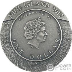 WOLF Wildlife Family 1 Oz Silber Münze 1$ Niue 2017