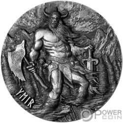 YMIR Legends of Asgard Max Relief 3 Oz Moneda Plata 10$ Tokelau 2017