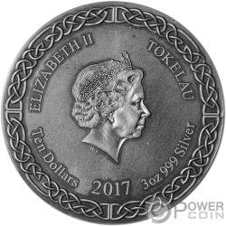 YMIR Legends of Asgard Max Relief 3 Oz Moneda Plata 10$ Tokelau 2017