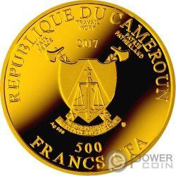 MADONNA DEL MAGNIFICAT Virgen Ave Maria Moneda Plata 500 Francos Cameroon 2017