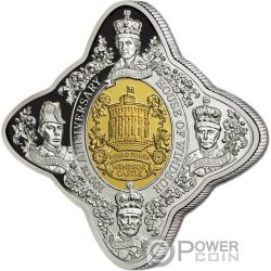 HOUSE OF WINDSOR 100 Anniversario Castello Royal Star 1 Oz Moneta Argento 1$ Tokelau 2017