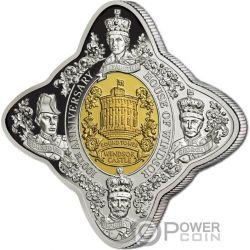 HOUSE OF WINDSOR 100 Anniversario Castello Royal Star 1 Oz Moneta Argento 1$ Tokelau 2017