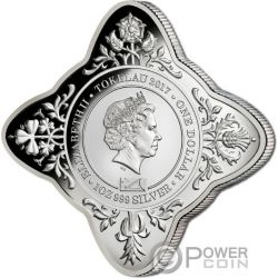 HOUSE OF WINDSOR 100 Aniversario Castillo Royal Star 1 Oz Moneda Plata 1$ Tokelau 2017