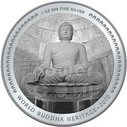 SEOKGURAM GROTTO BUDDHA Heritage Korea Монета Бутан 2010