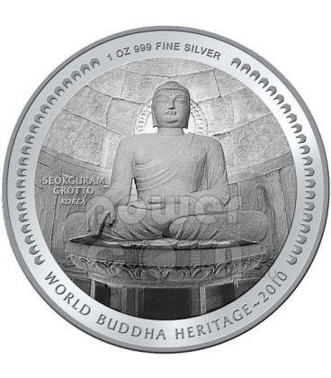 SEOKGURAM GROTTO BUDDHA Heritage Moneta Argento Bhutan 2010