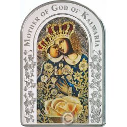 OUR LADY OF CALVARY Nostra Signora Calvario Madonna Moneta Argento 2$ Tokelau 2017