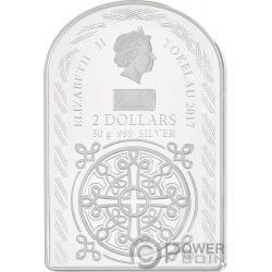 OUR LADY OF CALVARY Unsere Frau Vom Kalvarienberg Madonna Silber Münze 2$ Tokelau 2017