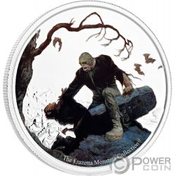 BEYOND THE GRAVE Inframundo Frazetta Monsters Collection 1 Oz Moneda Plata 5 Cedis Ghana 2017