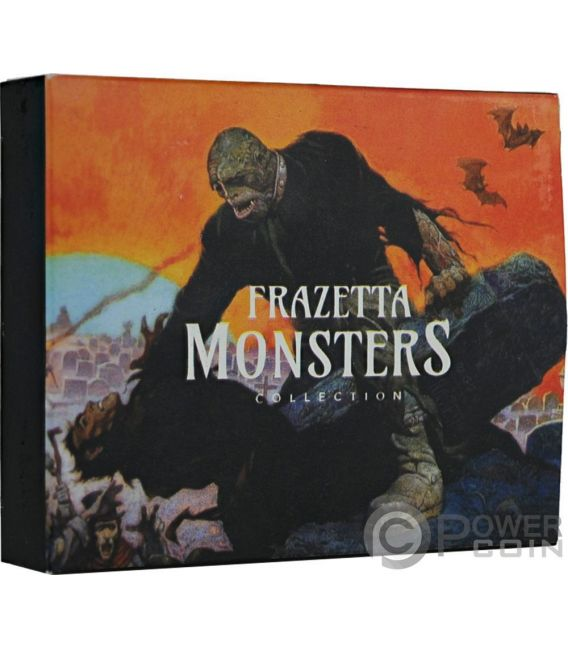 BEYOND THE GRAVE Frazetta Monsters Collection 1 Oz Silver Coin 5 Cedis Ghana 2017