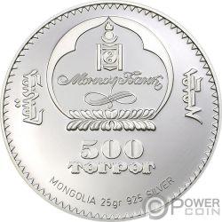 LONG EARED JERBOA Gobi Desert Silver Coin 500 Togrog Mongolia 2006