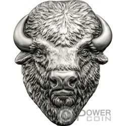 AMERICAN BUFFALO Shape 2 Oz Silver Coin 5$ Cook Islands 2017