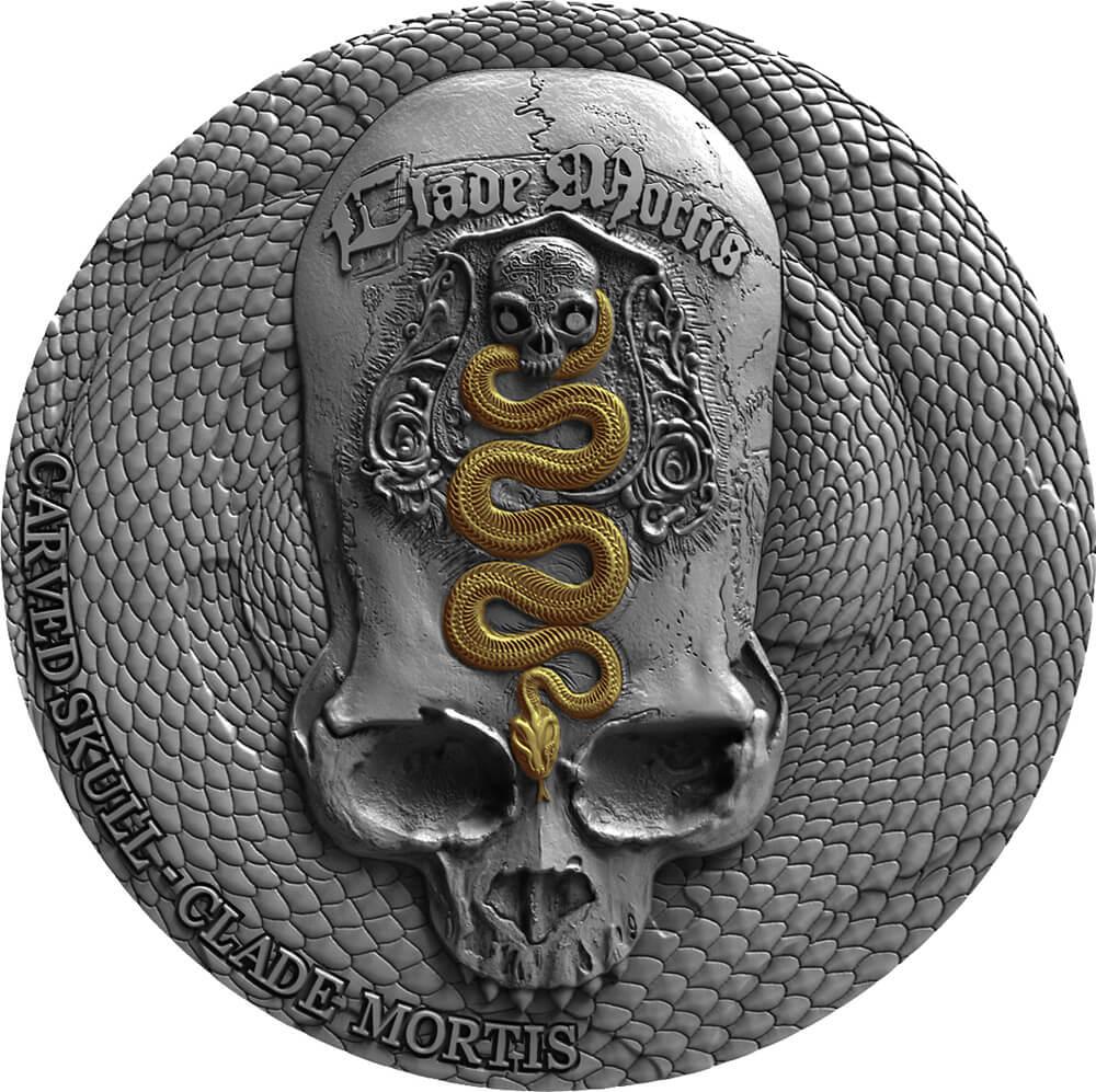Carved skull reverse