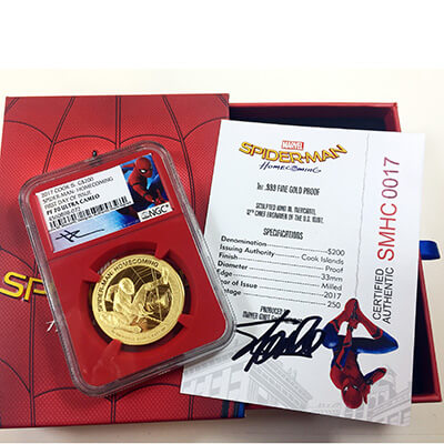 Spiderman signed by Stan Lee