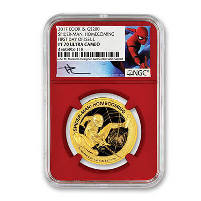 Spiderman Gold Coin