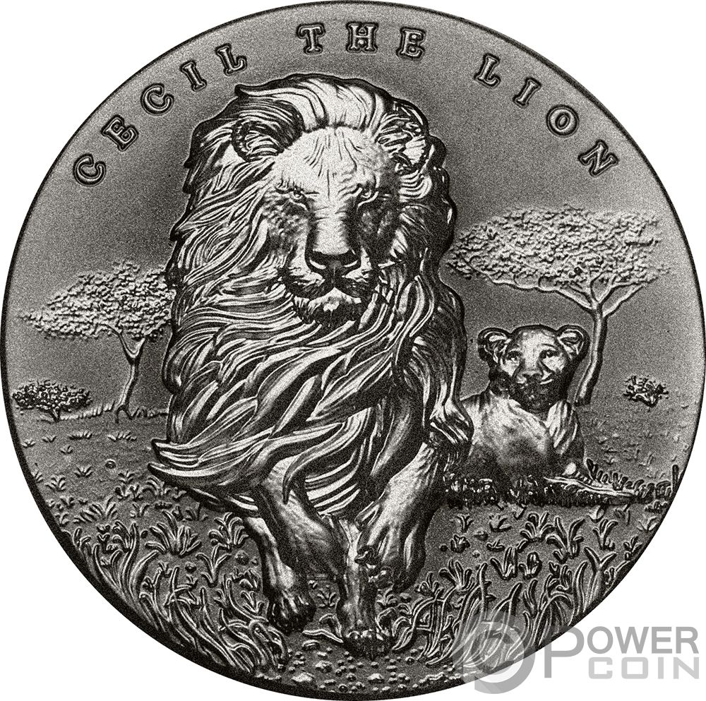 Cecil the lion 2 oz silver coin 2000 francs cameroon 2018