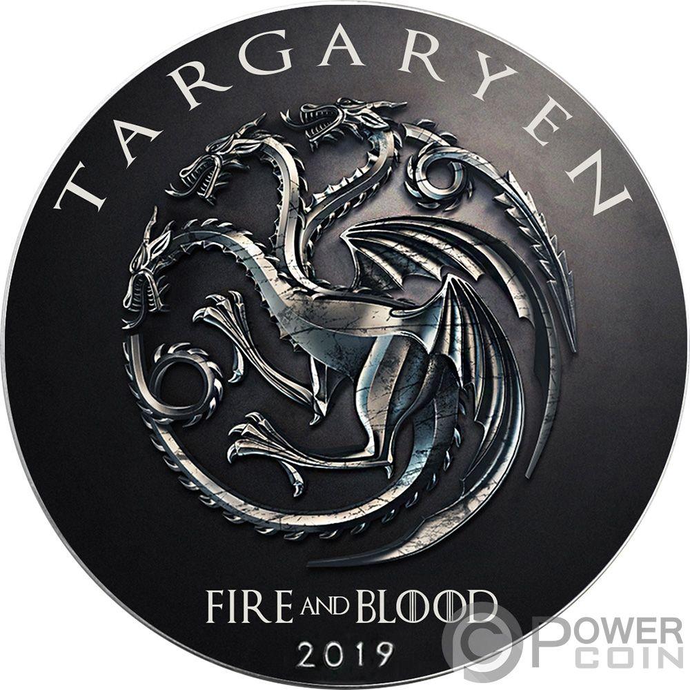 TARGARYEN Game of Thrones GOT Walking Liberty 1 Oz Silver Coin 1$ US Mint 2019