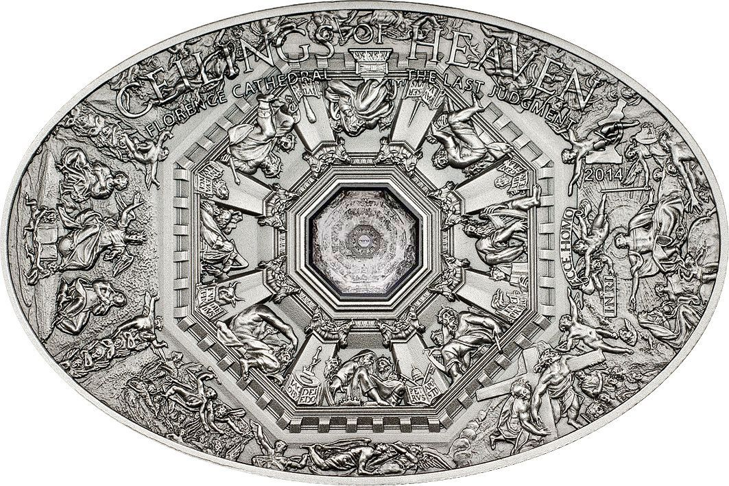 Nano last judgment florence ceilings of heaven silver coin for Coin firenze