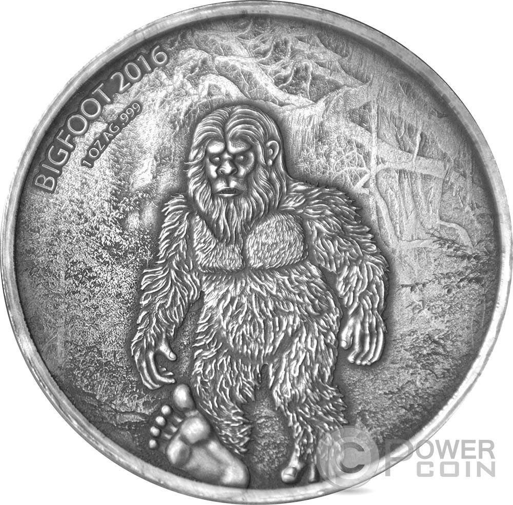 Bigfoot Sasquatch 1 Oz Silver Coin 1000 Francs Burkina