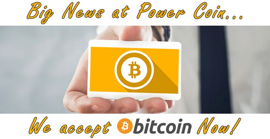 WE ARE NOW ACCEPTING BITCOIN!