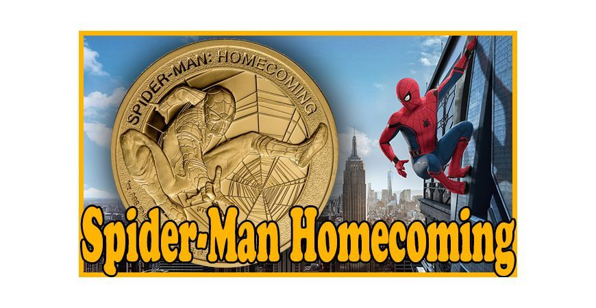 SPIDER-MAN HOMECOMING, UNA MONEDA DE ORO CON EL CERTIFICADO DE AUTENTICIDAD FIRMADO POR STAN LEE