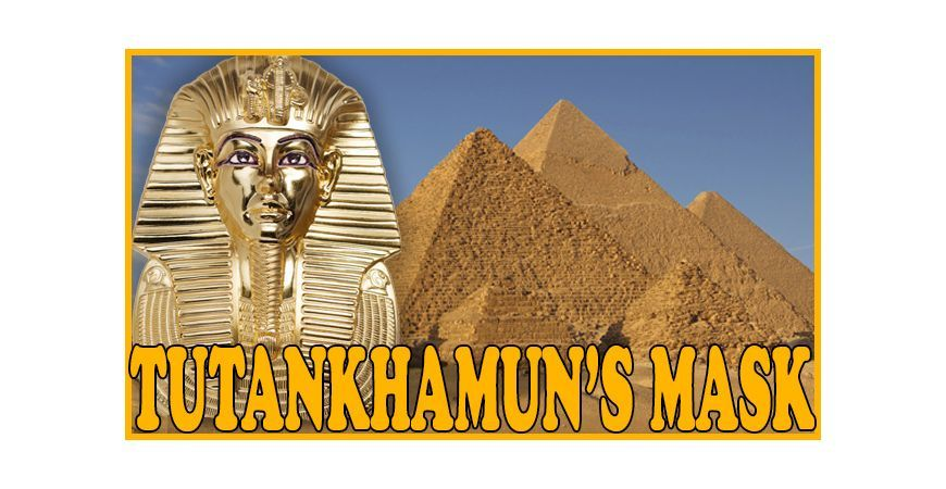 TUTANKHAMUN'S MASK: AN ASTONISHING SHAPED 3 OZ SILVER COIN