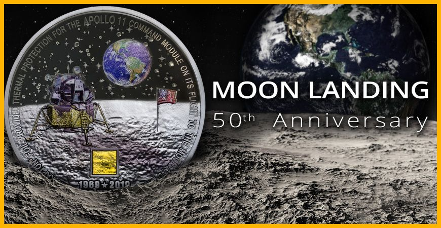 MOON LANDING: THE FIRST SILVER COIN THAT LANDED ON THE MOON AND CAME BACK!